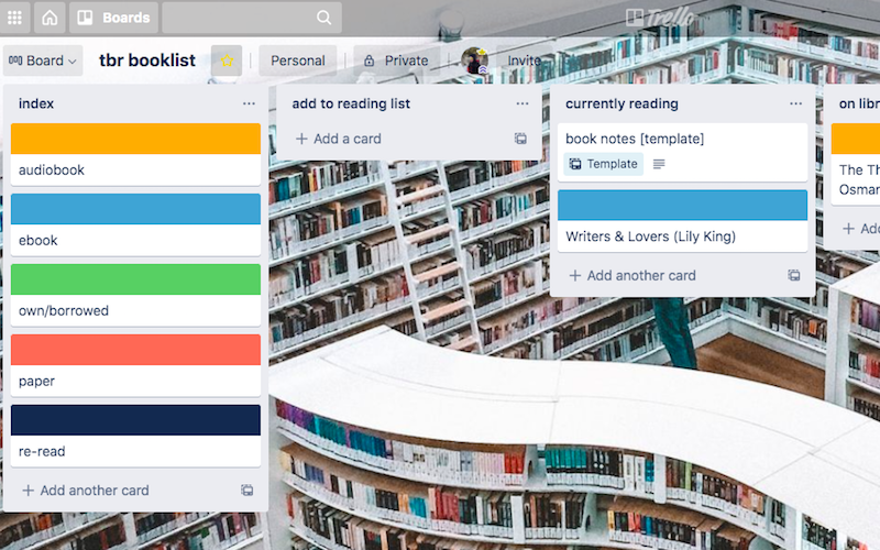 tracking your tbr booklist with trello | the bookish athlete